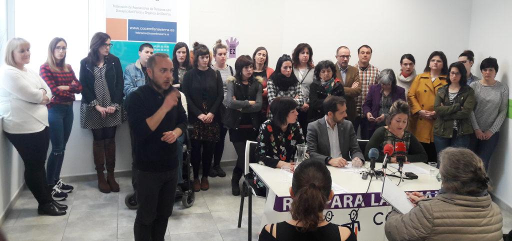 momento de la rueda de prensa donde se presentó la Red de Igualdad