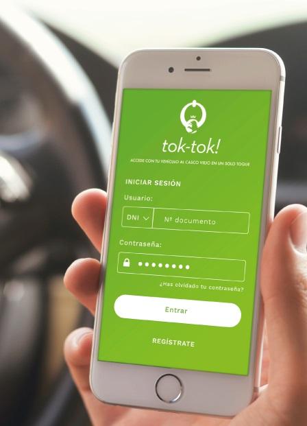 imagen de la pantalla de un movil con una aplicación