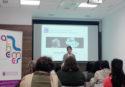Imagen de un momento de la charla de Pamplona