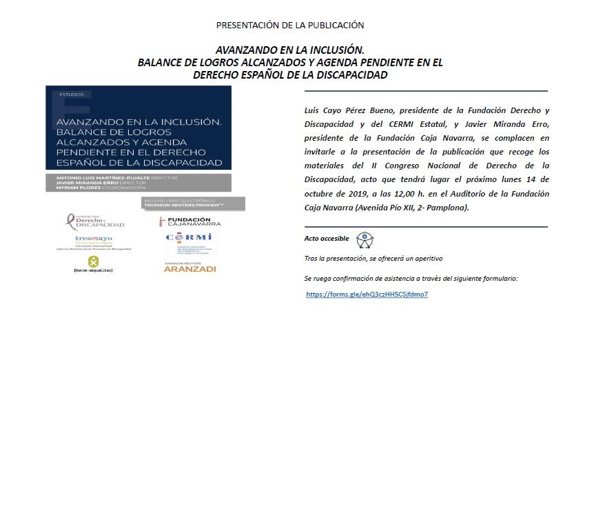 Imagen de la invitación a la presentación