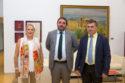 De izquierda a derecha: Pilar Herrero, Unai Hualde y Valentín Fortún