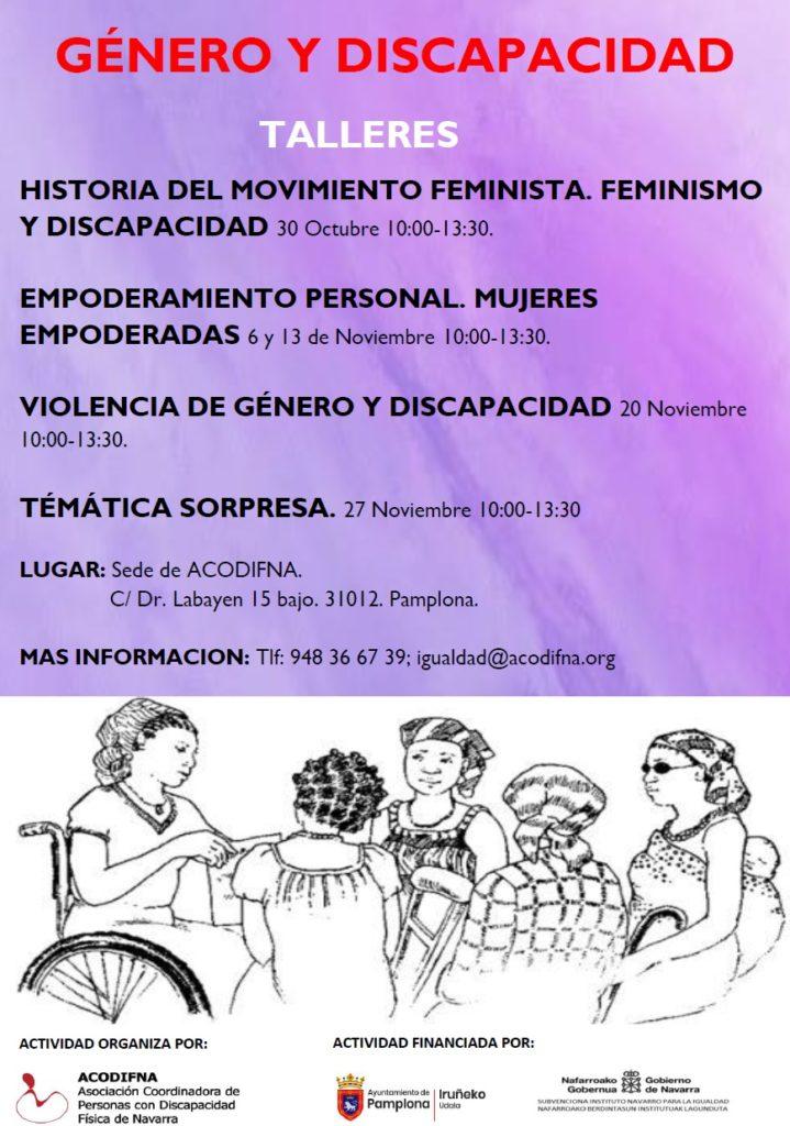 Imagen del cartel de los talleres