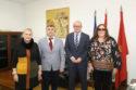 De izquierda a derecha: Pilar Herrero, Valentín Fortún, Carlos Gimeno y Ana Isabel Ruiz López