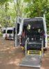 Uno de los vehículos adaptados. (Fotos cedidas por Cruz Roja Navarra)